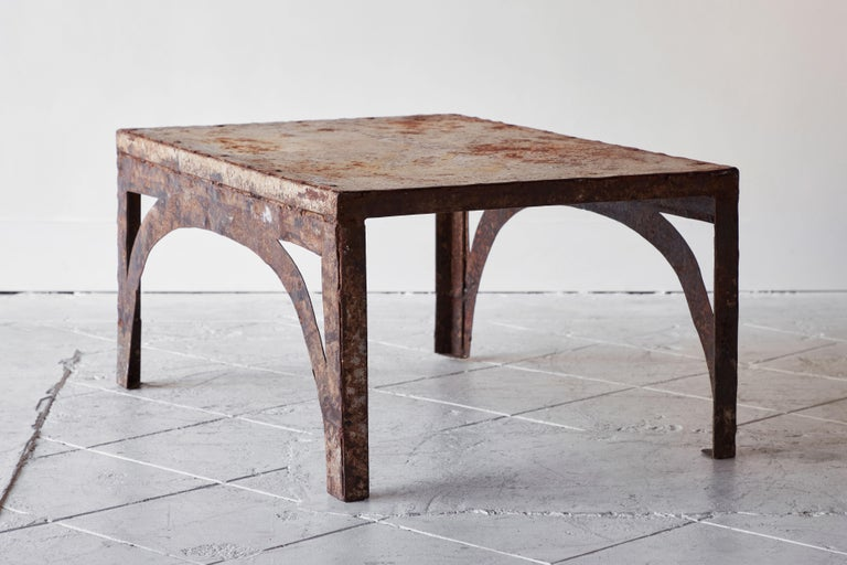 Vintage Iron Coffee Table For Sale 2