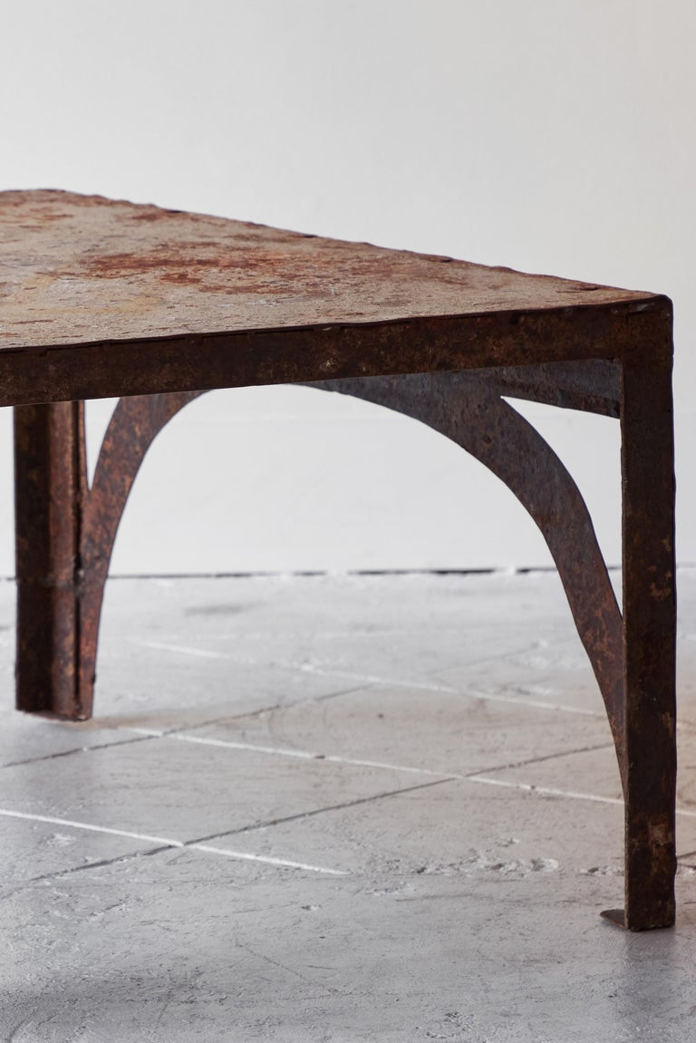 Vintage Iron Coffee Table For Sale 3