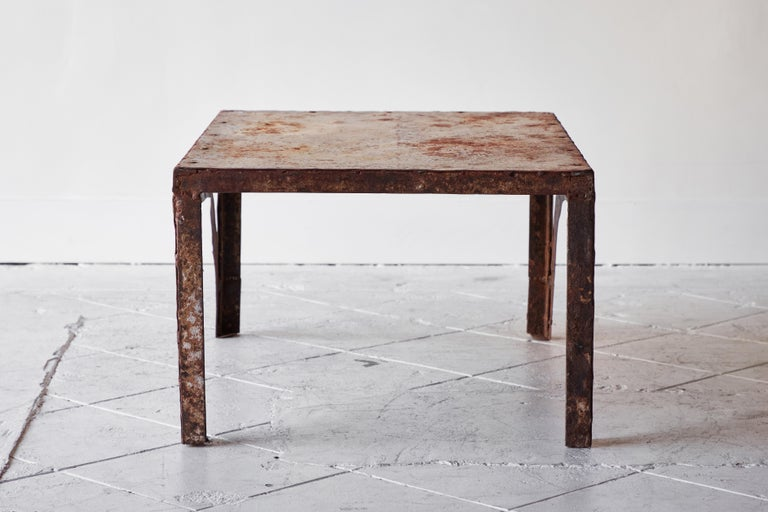 Vintage Iron Coffee Table For Sale 4