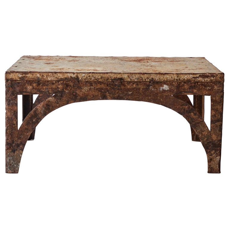 Vintage Iron Coffee Table For Sale