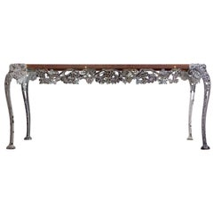 Vintage Iron Grapevine Garden Table in the style of John Salterini