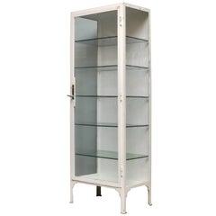Vintage Iron Medical Cabinet, 1940s