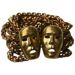 Vintage ISABEL CANOVAS Important Giant Mask Bracelet