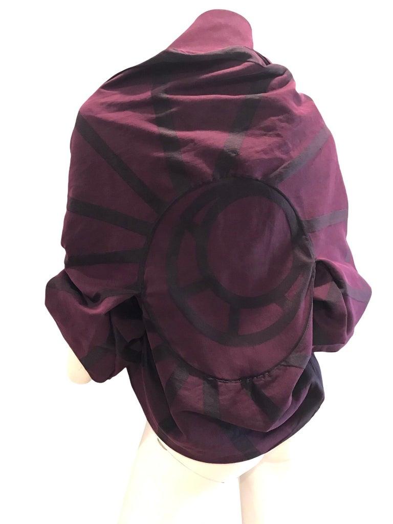 Black Vintage Issey Miyake A POC purple jacket  For Sale