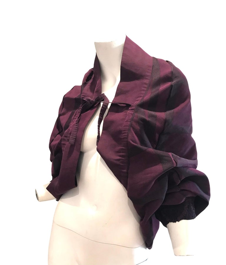 Vintage Issey Miyake A POC purple jacket  In Excellent Condition For Sale In Austin, TX