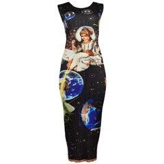 Vintage Issey Miyake Black Pleated Space Galaxy Dress