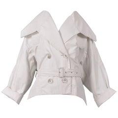Vintage Issey Miyake Cream Trench Coat 1980s