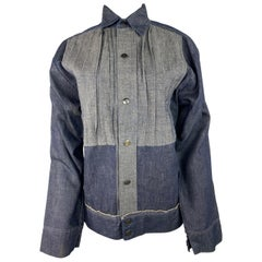 Vintage Issey Miyake Denim Button Down Shirt Jacket
