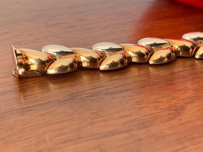 Vintage Italian 14-Karat Gold Two-Tone Bracelet For Sale 8