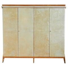 Vintage Italian 1950s Parchment Cabinet