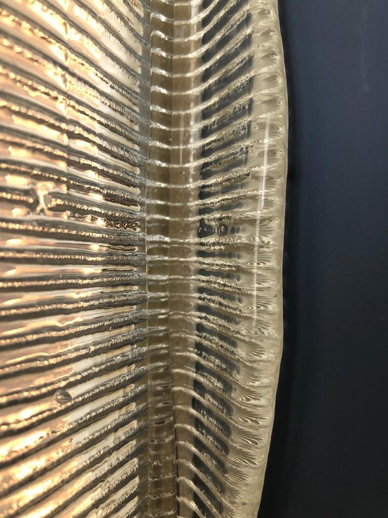 Vintage Italian 1950s Venini Applique Light in Clear Blown Glass For Sale 8