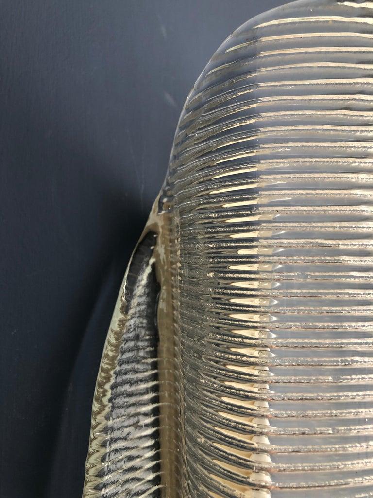 Vintage Italian 1950s Venini Applique Light in Clear Blown Glass For Sale 10