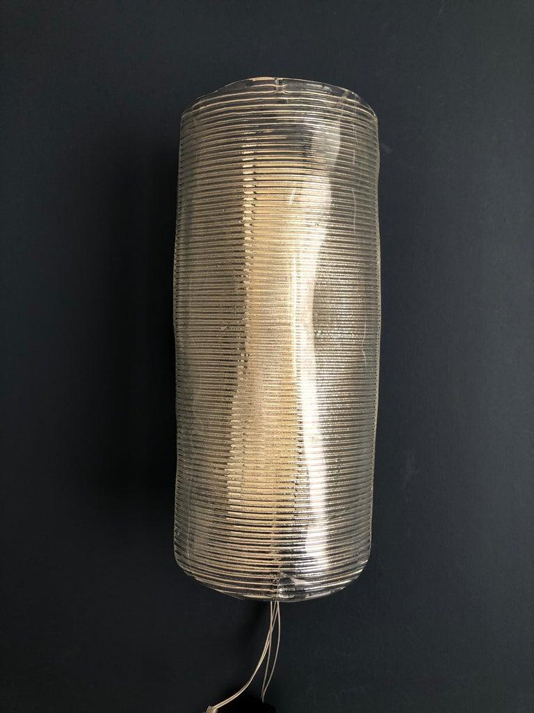 Vintage Italian 1950s Venini Applique Light in Clear Blown Glass In Good Condition For Sale In Copenhagen K, DK