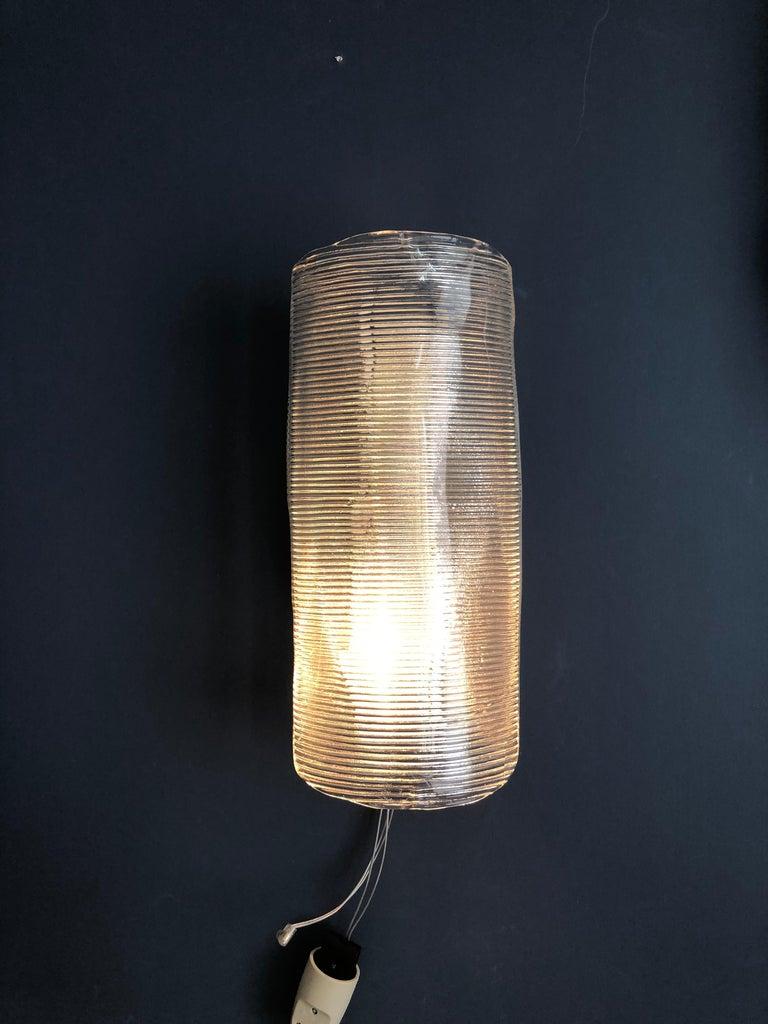 Mid-20th Century Vintage Italian 1950s Venini Applique Light in Clear Blown Glass For Sale