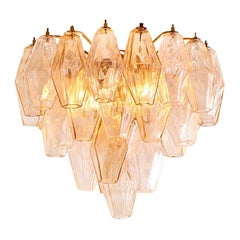 Vintage Italian 1960s Paolo Venini Chandelier in Smoked and Clear Blown Glass