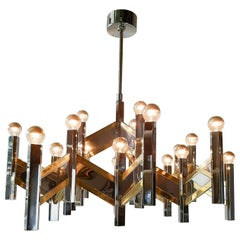 Vintage Italian 21-Light Sciolari Lamp