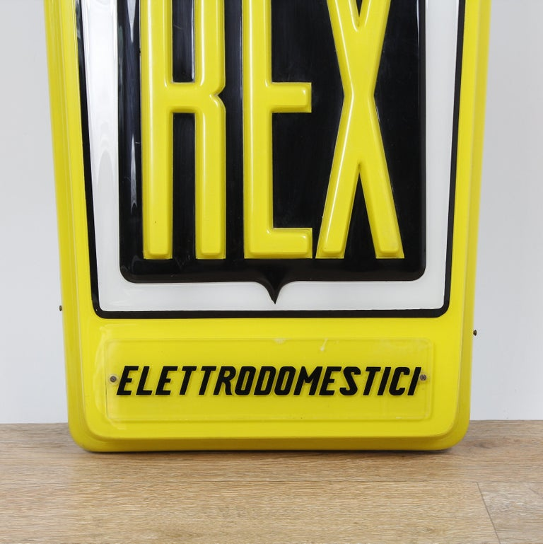 Vintage Italian Advertising Sign Acrylic Neon Light, 1950s In Good Condition For Sale In Carpi, Modena