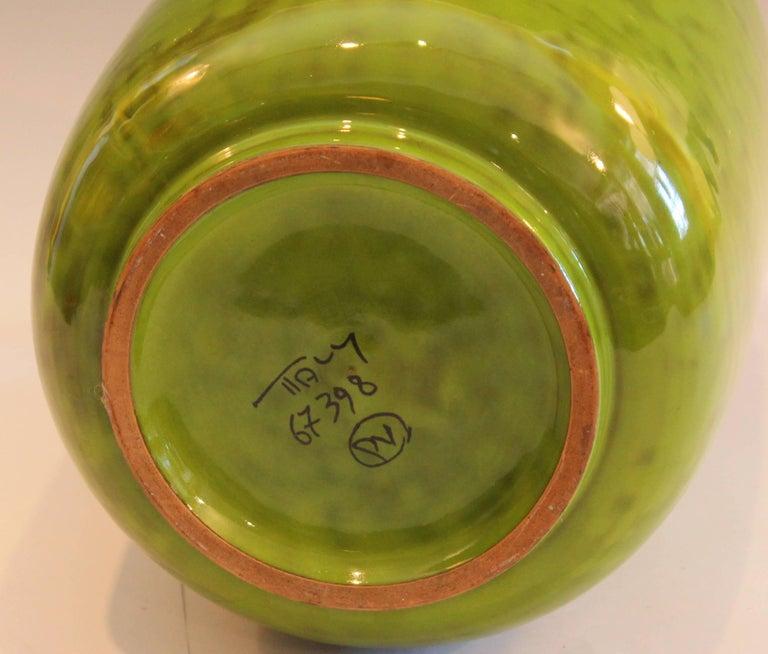 Vintage Italian Art Pottery Bright Kelly Lime Green Italica Ars