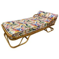Vintage Italian Bamboo Daybed