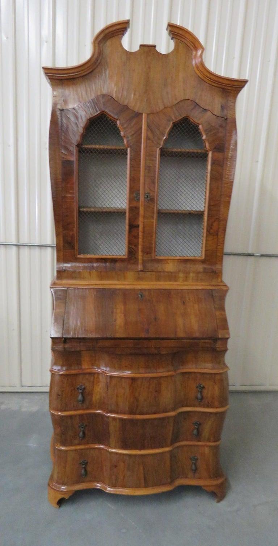 Vintage Secretary Desk >> Vintage Italian Burl Olivewood Secretary Desk
