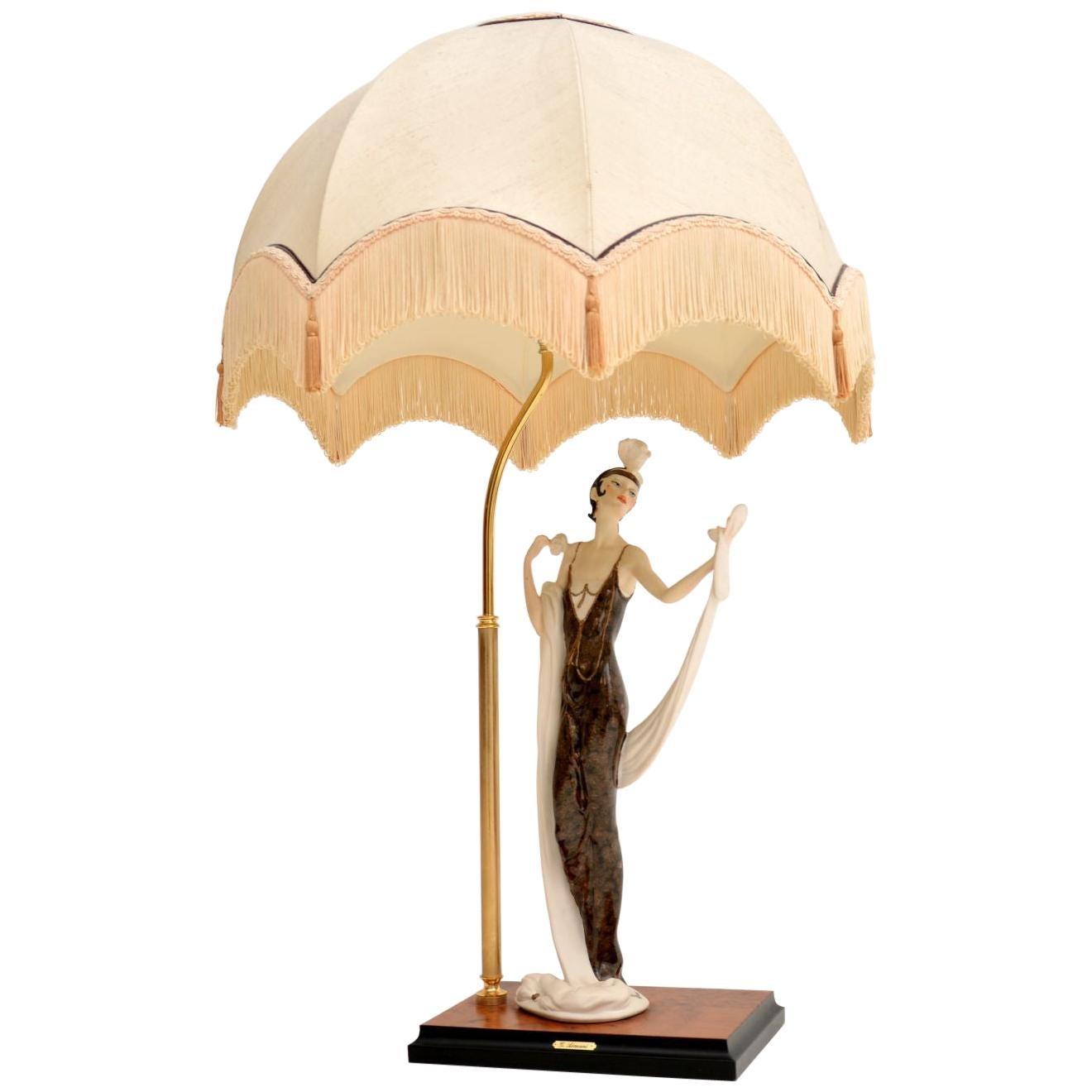 Vintage Italian Capodimonte Table Lamp by Giuseppe Armani