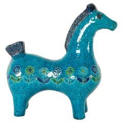 Vintage Italian Ceramic Horse Figurine by Aldo Londi for Bitossi, 1960s