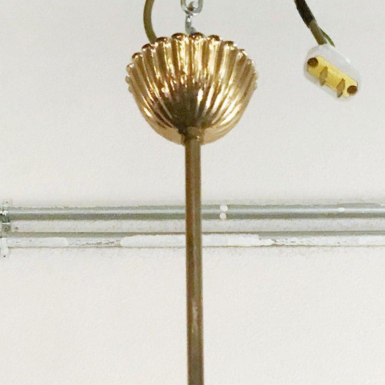 Vintage Italian Chandelier w/ Murano Glass Shades Style of Stilnovo, circa 1960 For Sale 3