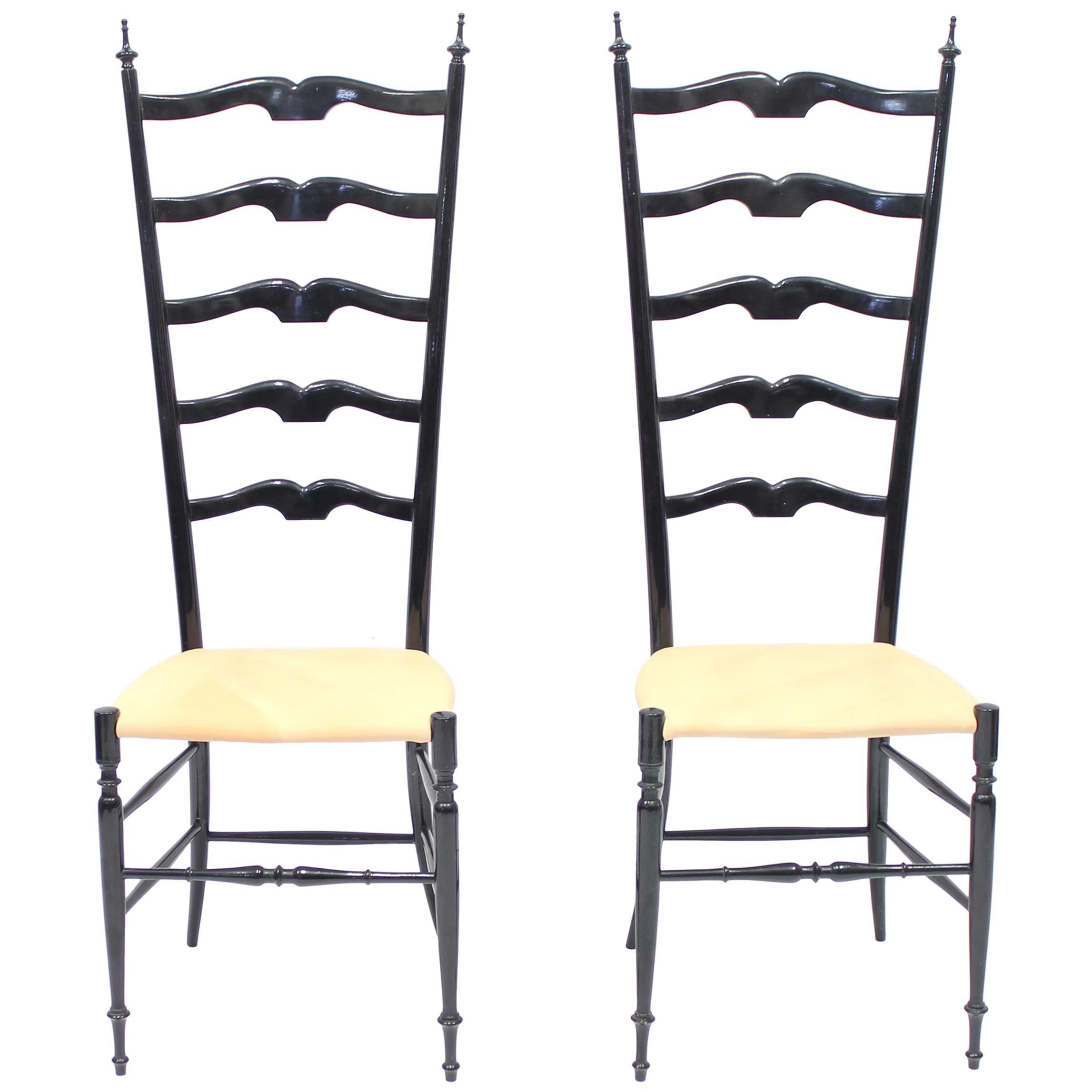 Vintage Italian Chiavari Chairs, 1950s, Set of Two