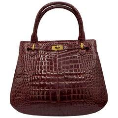 Vintage Italian Crocodile Handbag