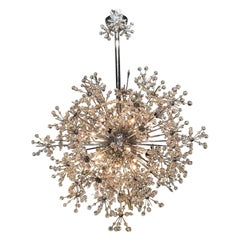 Vintage Italian Crystal Sputnik Chandelier