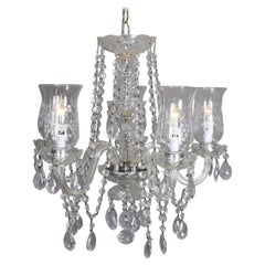 Vintage Italian Cut Crystal and Chrome Chandelier, 20th Century