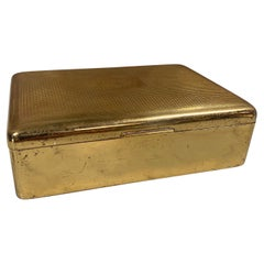 Vintage Italian Decorative Brass Box, 1960s