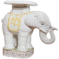 Vintage Italian Elephant Terra Cotta Garden Seat