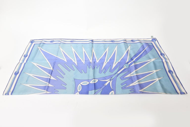 Women's  Pucci Geometric Silk Square Scarf Vintage For Sale