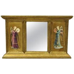 Vintage Italian Florentine Gold Giltwood Musical Angel Mirror by Exposures