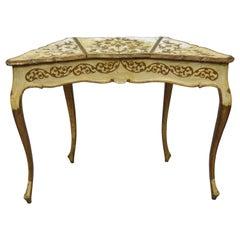 Vintage Italian Florentine Hollywood Regency Flip Top Mirror Vanity Table
