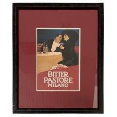 Vintage Italian Framed Poster
