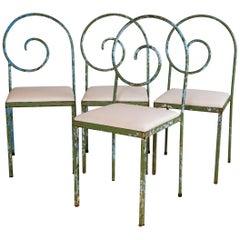 Vintage Italian Garden Chairs, Set of 4