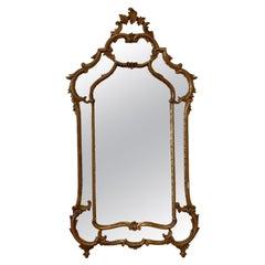 Vintage Italian Gilt Wood Mirror