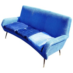 Vintage Italian Gio Ponti Style Sofa