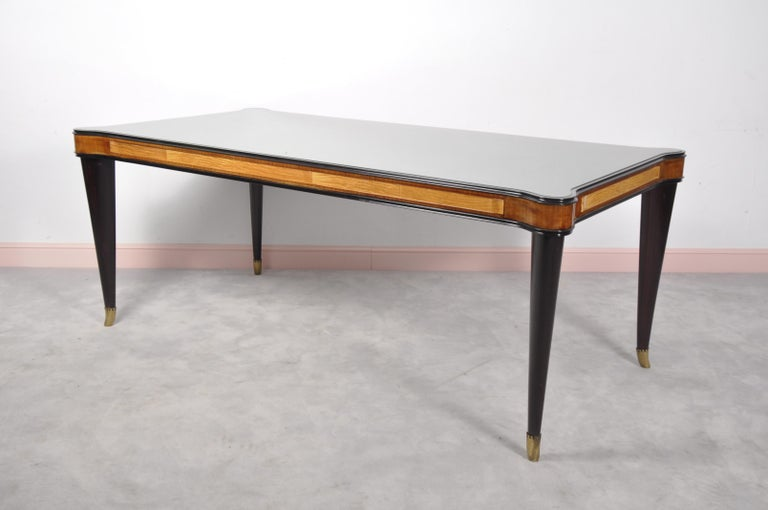 Vintage Italian Glass Dining Table By Paolo Buffa For Sale At 1stdibs