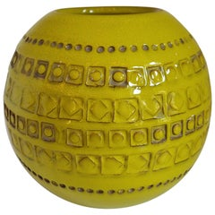 Vintage Italian Glazed Spherical Vase