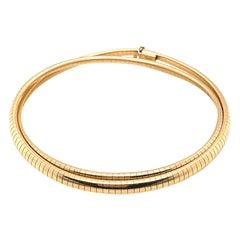 Vintage Italian Gold Collar Necklace