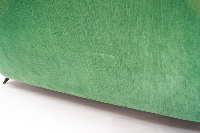 Vintage Italian Green 3-Seat Sofa, 1950s For Sale 2