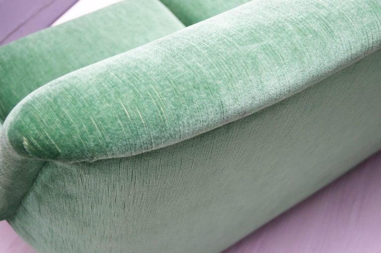 Vintage Italian Green 3-Seat Sofa, 1950s For Sale 3