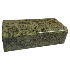 Vintage Italian Green Stone Box, 1970s