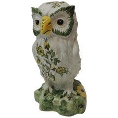 Vintage Italian Hand Painted Porcelain Owl