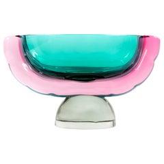 Vintage Italian Handmade Murano Glass Vase, by Marcello Furlan