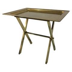 Vintage Italian Jansen Style Brass Tray Table