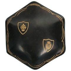 Vintage Italian Leather Jewelry Box, Small